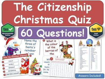 Citizenship Christmas Quiz!
