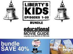 Liberty's Kids - BUNDLE - Episodes 1-20 Movie Guide   Worksheet