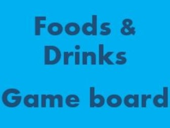 Foods and Drinks Game board for Smartboard