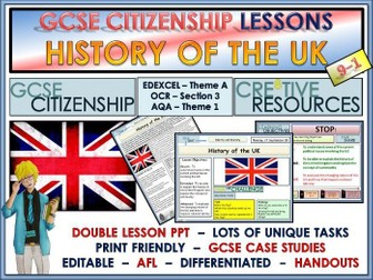 History of the UK x2 lessons - GCSE Citizenship