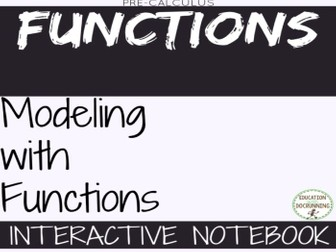 Modeling with Functions Precalculus Color Coded Interactive Notebook