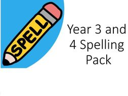 Year 3 and 4 Spelling Pack