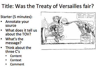 was the treaty of versailles fair essay - the treaty of versailles it is true to say that the treaty of versailles in 1919 was a fair treatment on the side of some victorious powers because they got many national interests and only germany, which was the major defeated country, accepted punishments.
