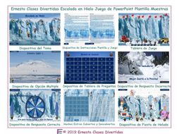 Ice Climb Spanish PowerPoint Game TEMPLATE FREE READ ONLY SHOW