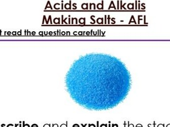 KS3 Making Salts six mark Question