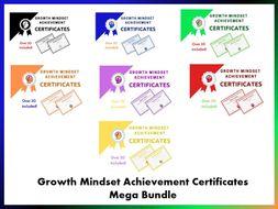 Growth Mindset Achievement Certificates Mega Bundle
