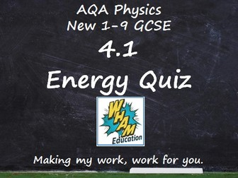 AQA Physics: 4.1 Energy Quiz