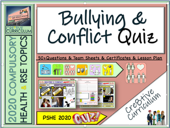 Bullying + Conflict PSHE Quiz