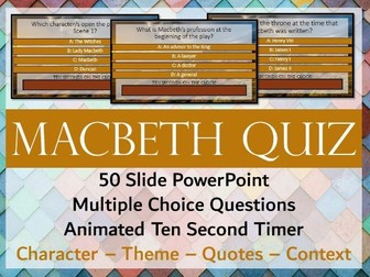 Macbeth Quiz