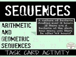 Sequences: Mixed review challenger matching task cards