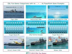 Comparisons with As ...+... As English Battleship PowerPoint Game