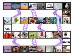 Phonics Final Consonant Clusters ct-ft-lt-nt-pt Photo Chutes-Ladders Game