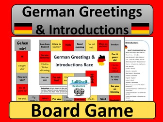 German Greetings and Introductions Game