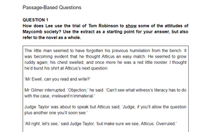 To kill a mockingbird essay question