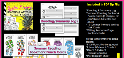 middle school summer reading writing character analysis activity pack by lkat8 teaching. Black Bedroom Furniture Sets. Home Design Ideas