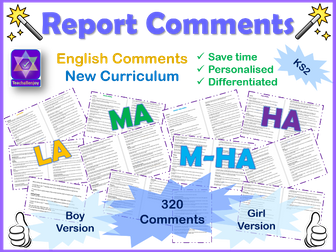 English Report Comments
