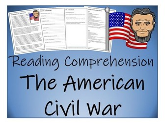 UKS2 History - American Civil War Reading Comprehension Activity