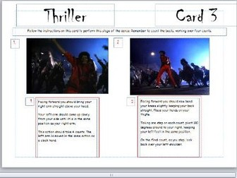 Dance Jigsaw learning - initial lesson worksheet/plans