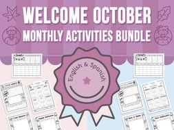 Welcome October - Monthly Activities BUNDLE