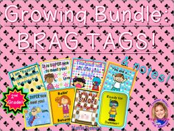 GROWING BUNDLE: Brag Tags! (Second Grade)
