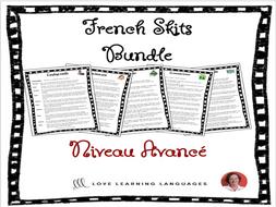 Advanced French Skits  - BUNDLE