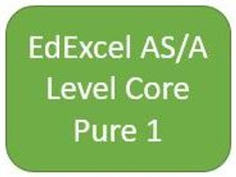EdExcel AS/A Level Core Pure Maths 1 - Student Chapter Booklets and Dr Frost Presentation