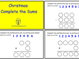 Christmas Complete The Sum (ppt version)