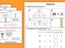 Year 3 Multiply by 3 Autumn Block 3 Maths Homework Extension