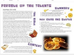 Parables of Jesus: Parable of the Talents/Three Servants - Story, Themes, Importance and Context
