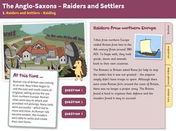 Raiding - Interactive Teaching Book - Anglo-Saxon Britain KS2