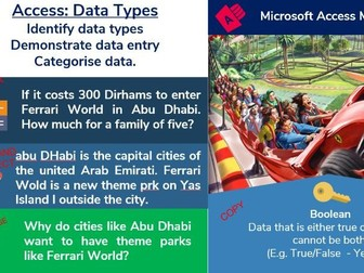 1. Access Database: Data Types and Data Entry (1/6)