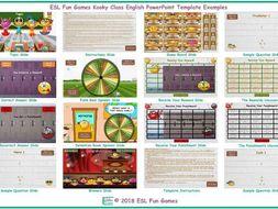 Kooky Class English PowerPoint Game Template-An Original by ESL Fun Games