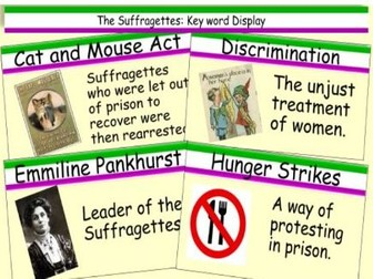 Suffragettes Key Word History Display