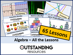 Algebra: All Lessons (65 Lessons) + All Resources