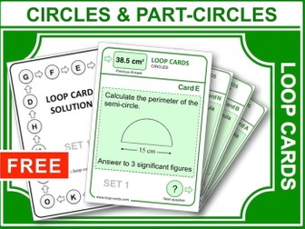 Circles and Part-circles (Loop Cards)