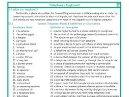 Telephones Combo Explanation-Definitions