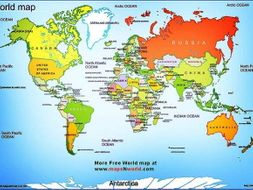 Continents and oceans by edrh23 teaching resources tes continents and oceans gumiabroncs Choice Image