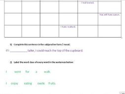 Year 6 SPAG practice / SATS revision worksheet - tenses, word classes, etc.