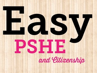 PSHE and Citizenship planning, long term plan, schedule