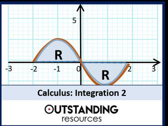 Integration 2 - Finding an Area under a Curve (+ worksheet)