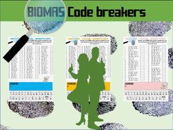 BIDMAS code breaker worksheets