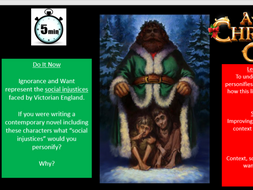 A Christmas Carol - Ignorance and Want key quote lesson by JSmedley-Baugh - Teaching Resources - Tes