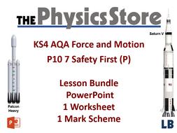 KS4 GCSE Physics AQA P10 7 Safety First (P) Lesson Bundle