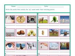 Phonics Vowel Team EY Photo Worksheet