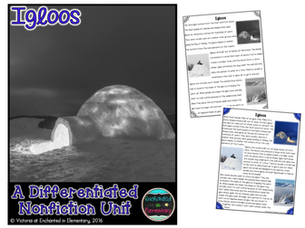 Differentiated Nonfiction Unit: Igloos