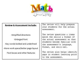Grade 3, Math Module 5 REVIEW & ASSESSMENT w/Ans keys (printables & Smart Board)