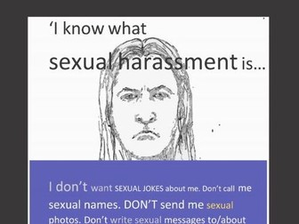 Sexual Harassment Poster UK version (sex education)