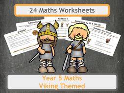 Viking Themed Maths Worksheets - Year 5
