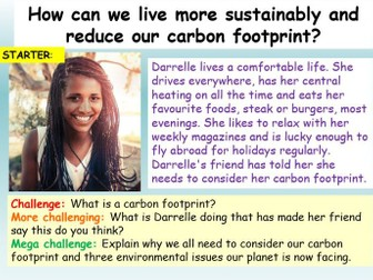 Sustainability - Carbon Footprints