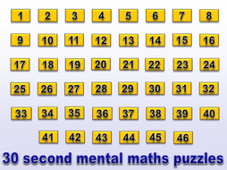 30 second mental maths puzzle